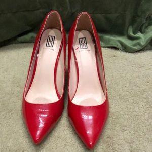 """Red stilletos, 4 1/4"""" heels, Sz 11"""